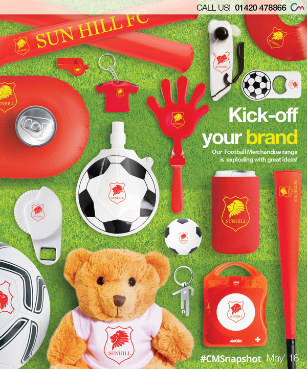 Promotional football merchandise, UEFA Euro 2016, branded sports products
