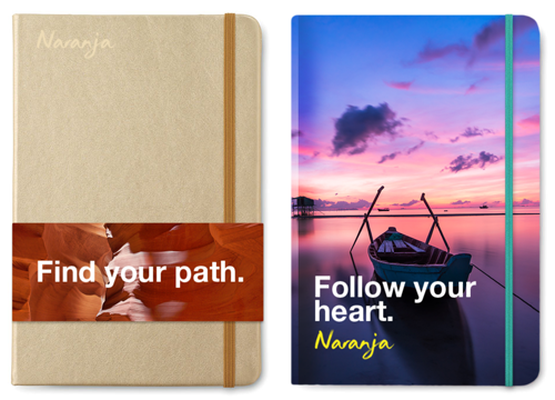 Promotional notebooks, branded notebooks, promotional writing, promotional office gifts