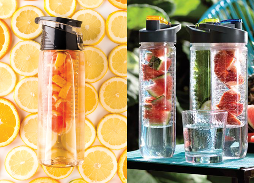 Infuser bottles, promotional bottles, branded infuser bottles