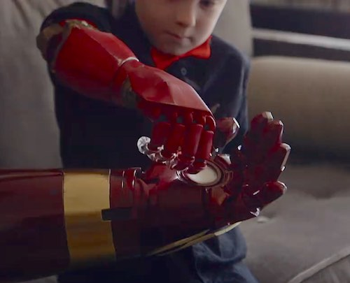 Tony Stark delivers a real bionic arm!