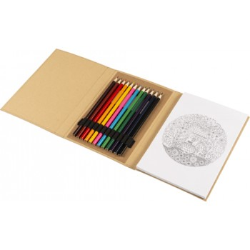 promotional cardboard colouring folder IME-8342