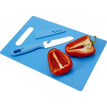 promotional kitchen set with plastic chopping board and knife IME-7790