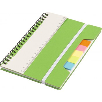 promotional wire bound notebook with ruler and sticky notes IME-8300