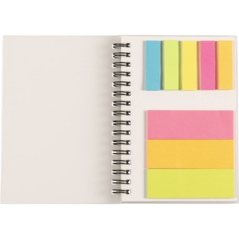 promotional wire bound notebook with sticky notes IME-8295