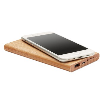 promotional wireless, power bank in bamboo mo9662 40 MOB-MO9662