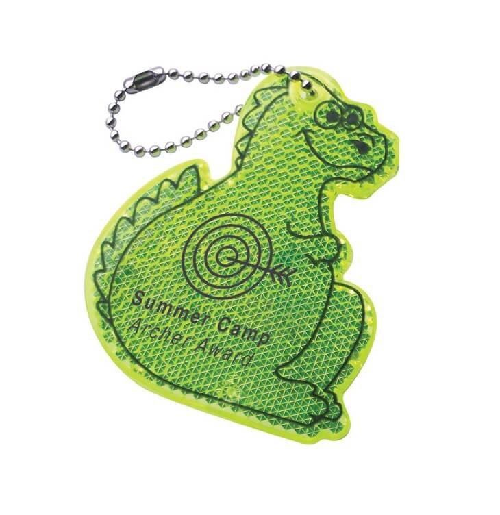 Printed Promotional Prismatic Reflectors - Dinosaur