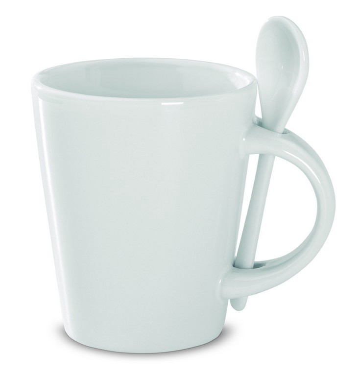 Printed Promotional Sublimation Mugs With Spoons | Hampshire