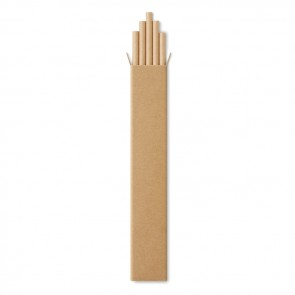 promotional 10 paper straws in kraft box MOB-MO9795