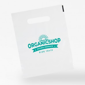 promotional 10 x 12 polythene carrier bags INT-10X12