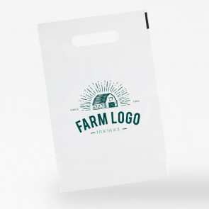 promotional 10 x 16 + 3 polythene carrier bags INT-10X16-3