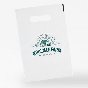promotional 12 x 18 + 3 polythene carrier bags INT-12X18-3