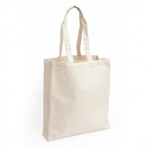 promotional 12oz cotton canvas bags with gusset BAT-CAN4B-12