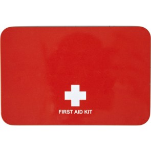 promotional 15 piece first aid kits in a metal tins IME-7792