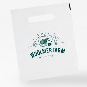 promotional 15 x 18 + 3 polythene carrier bags INT-15X18-3