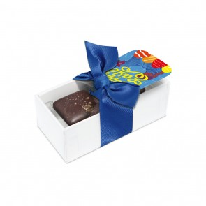 promotional 2 choc box dark chocolate salted caramels TSP-105606