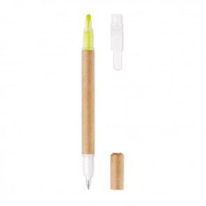 promotional 2 in 1 carton pen highlighter MOB-MO9895
