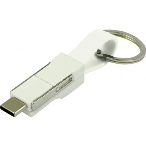 promotional 2 in 1 usb cable on key ring IME-8485