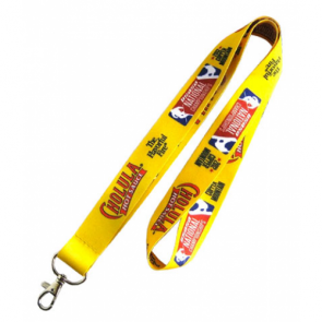 promotional 25mm dye sub satin polyester lanyards PMT-ULA342F