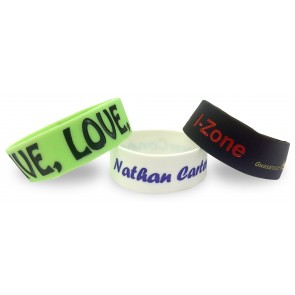 promotional single colour wristband   large coloured debossed PMT-USW24