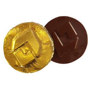 promotional 45mm chocolates in foil IMC-C-0263
