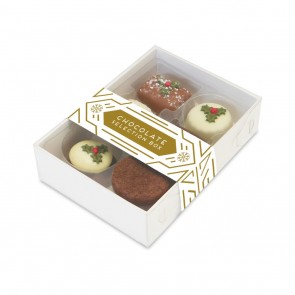 promotional 6 choc box   christmas truffles TSP-105184