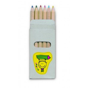 promotional 6 coloured pencils in boxes MOB-KC2478