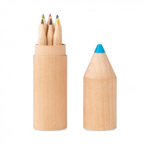 promotional 6 pencils in wooden box MOB-MO9875