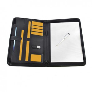 promotional a4 pickering zipped folders BHQ-QC0072