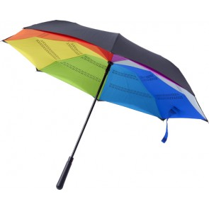 promotional automatic reversible pongee (190t) umbrella IME-8983