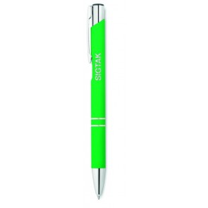 promotional ballpen with rubberised finish MOB-MO8857