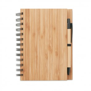promotional bambloc bamboo notebook with pens MOB-MO9435