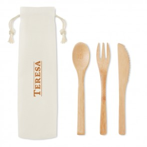 promotional bamboo cutlery set MOB-MO9786
