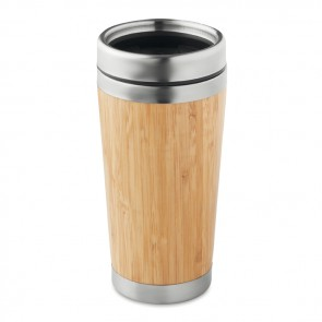 promotional bamboo double wall travel cups MOB-MO9444