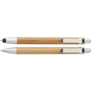 promotional bamboo pen sets in cardsboard boxes IME-7974