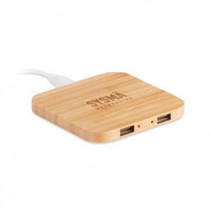 promotional bamboo wireless charging pad MOB-MO9698
