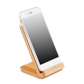 promotional bamboo wireless charging stand mo9692 40 MOB-MO9692