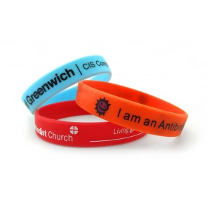 promotional single colour wristband   printed PMT-USW11