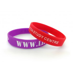 promotional single colour wristband   coloured debossed PMT-USW14