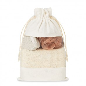 promotional bath set in cotton pouch MOB-MO9872