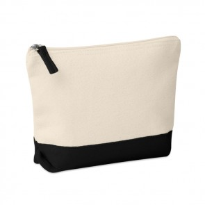 promotional bicolour cotton cosmetic bag MOB-MO9815