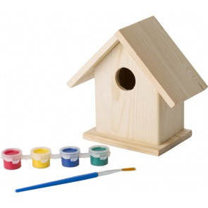 promotional birdhouse with painting set IME-8868