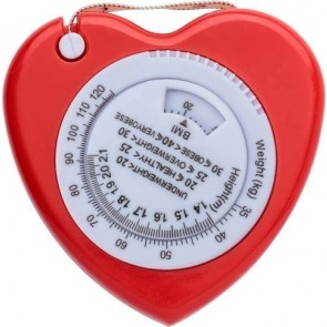 promotional heart shaped bmi tape measures IME-6559