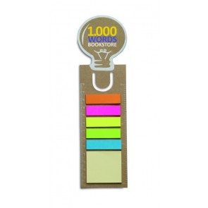 promotional bookmarks with memo stickers  MOB-MO7804