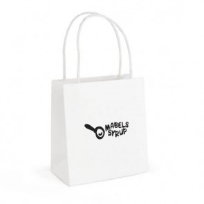 promotional brunswick white paper bags small  BHQ-QB4013