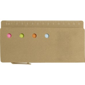 promotional cardboard holder with rulers IME-7830