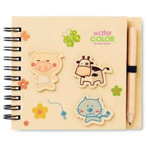 promotional children's notepads with pencils  MOB-MO8665
