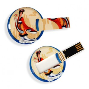 promotional circle credit card usb sticks WIL-TCC-16