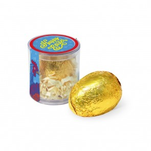 promotional clear pot gold foiled egg TSP-104287