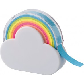 promotional cloud and rainbow memo tape dispenser IME-8285