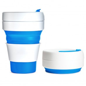 promotional collapsible folding silicone pocket cups MDF-MFL-K4